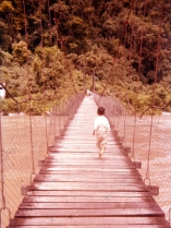 Long swinging bridge.