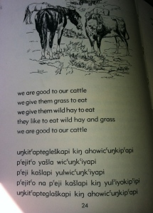 Lakota text