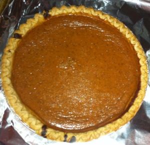 Joel's pumpkin pie - he makes three of them at Thanksgiving and doesn't share.