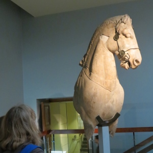 Remnant of one of the four horse chariots from the Mausoleum of Halicarnassus - one of the seven wonders of the world now preserved by the British Museum.