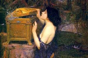 Woman peeking into her husband's secret money chest. It's not a Pandora's box - it's your money too, according to the tax man.