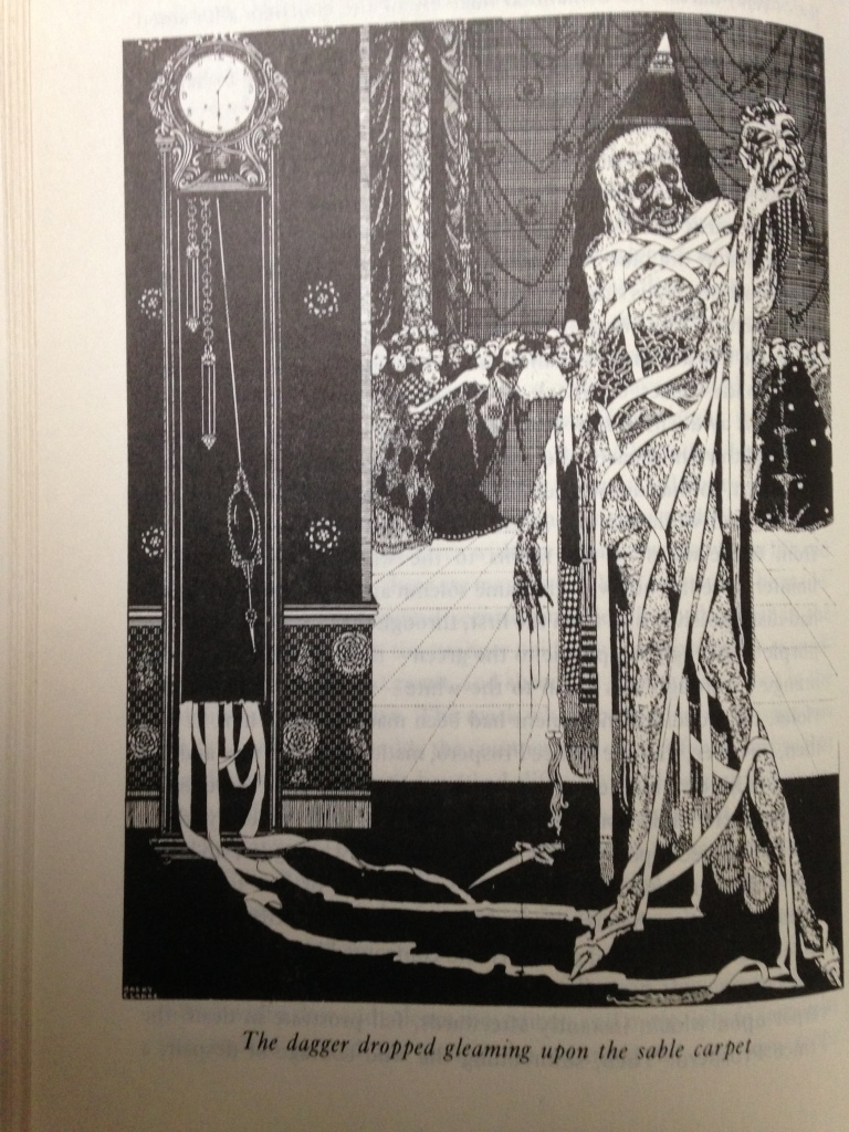 """From """"The Mask of the Red Death"""" by Edgar Allan Poe, illustration by Harry Clarke"""