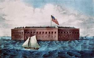 Artist rendering of Fort Sumter.