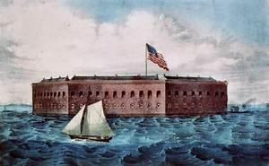 Artist rendering of Fort Sumter.